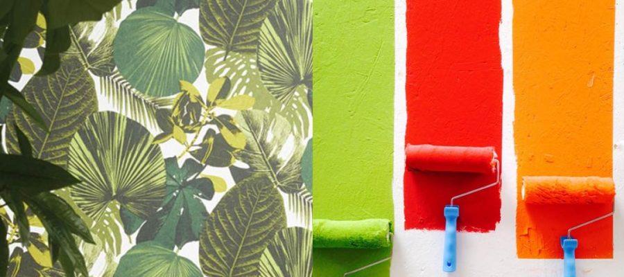 Choisir entre papier peint et peinture pour les murs de sa maison